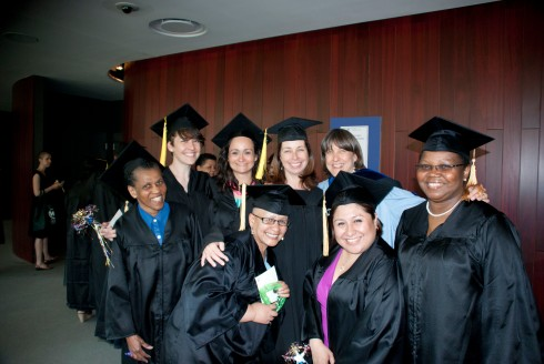 Christina Boryk, CUNY SPS Graduate Certificate in Adult Learning Class of 2013 with her classmates at graduation