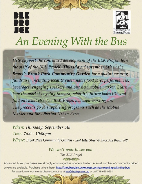 An Evening With the Bus Fundraiser
