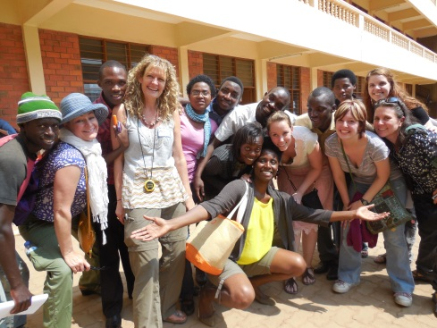 Professor Helen White and students from the Kigali Institute of Education and the SPS Master of Arts in Applied Theater
