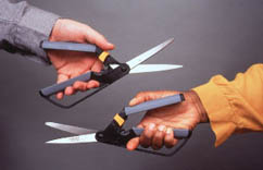 Pruners for left and right handed use